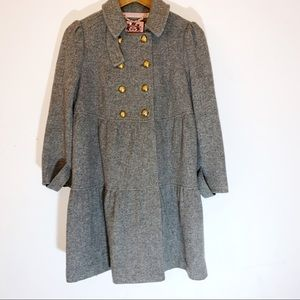 Juicy Couture coat grey with cold buttons med